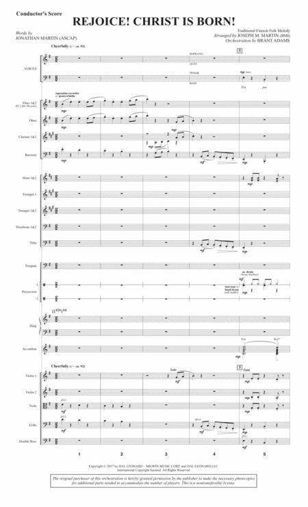 rejoice christ is born score sheet music pdf download - sheetmusicdbs.com  download sheet music and notes in pdf format