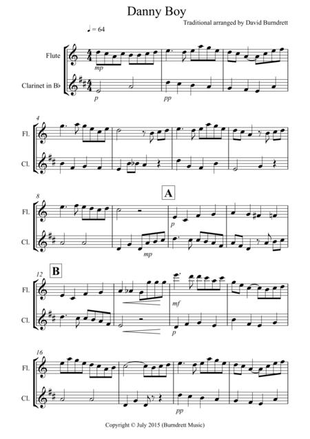 danny boy for flute and clarinet duet sheet music pdf download -  sheetmusicdbs.com  download sheet music and notes in pdf format