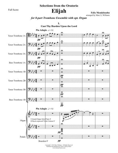 elijah selections for 8 part trombone ensemble and optional organ sheet  music pdf download - sheetmusicdbs.com  download sheet music and notes in pdf format