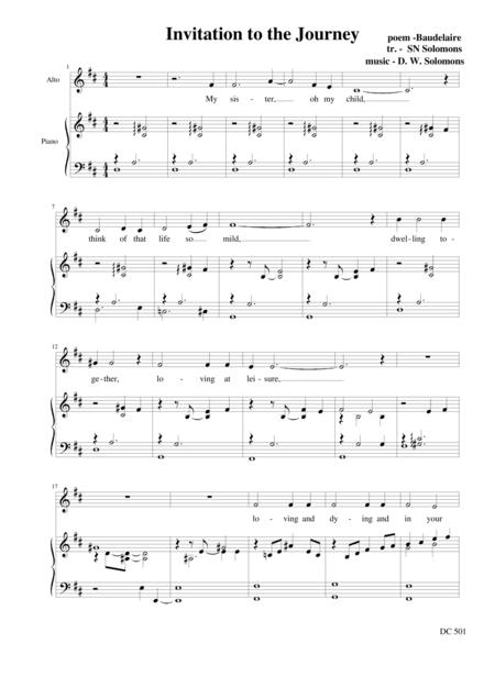 invitation to the journey alto and piano sheet music pdf download -  sheetmusicdbs.com  download sheet music and notes in pdf format