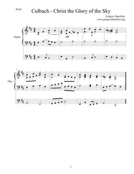 culbach christ the glory of the sky alternate harmonization sheet music pdf  download - sheetmusicdbs.com  download sheet music and notes in pdf format