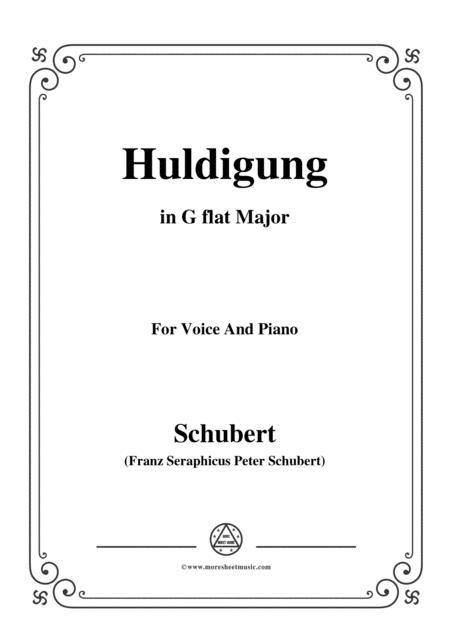 schubert huldigung in g flat major for voice piano sheet music pdf download  - sheetmusicdbs.com  download sheet music and notes in pdf format