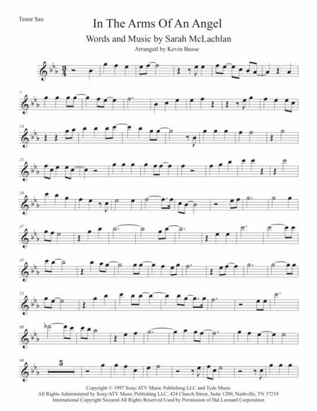 angel original key tenor sax sheet music pdf download - sheetmusicdbs.com  download sheet music and notes in pdf format