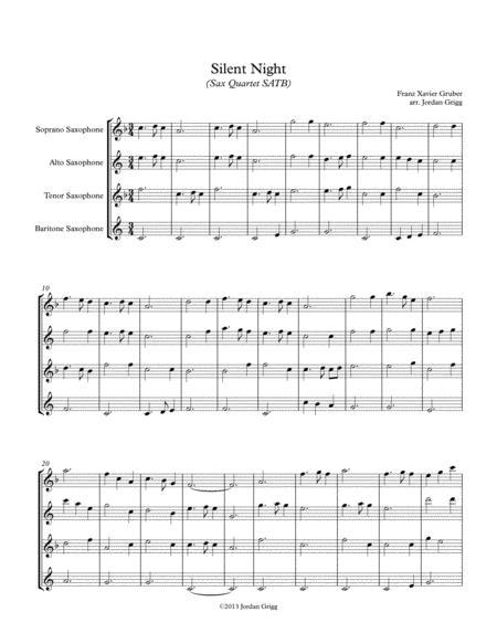 silent night sax quartet satb sheet music pdf download - sheetmusicdbs.com  download sheet music and notes in pdf format