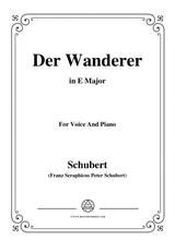 schubert der wanderer op 65 no 2 in b major for voice piano sheet music pdf  download - sheetmusicdbs.com  download sheet music and notes in pdf format