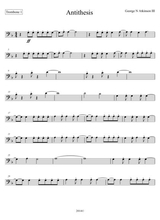 antithesis baritone sax sheet music pdf download - sheetmusicdbs.com  download sheet music and notes in pdf format
